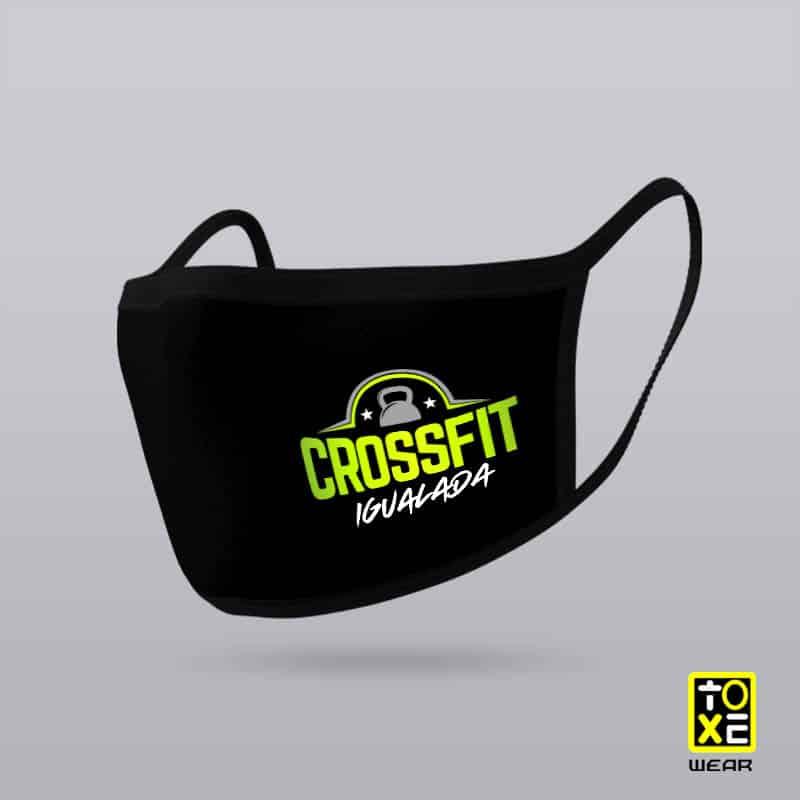 Mascarilla CrossFit Igualada reutilizable con tejidos homologados